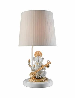 Lladró Veena Ganesha Masa Lambası Parlak Altın (CE) 01023166