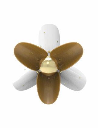 Lladró Çiçek Aplik Beyaz ve Altın (CE/UK) 01024065