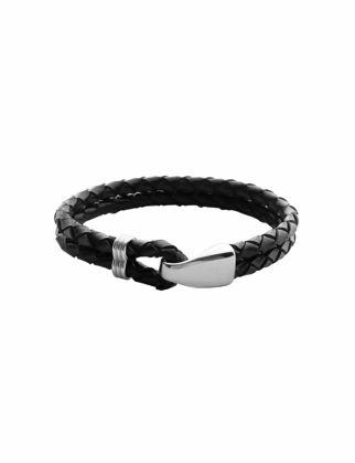 Valael Siyah Deri Tasarım Bileklik Valael-mm702-M