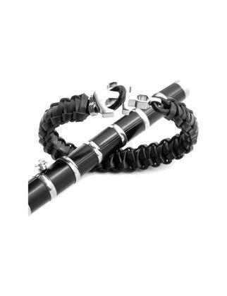 Valael Tasarım Siyah Deri Çapa Bileklik Valael-mm707-M