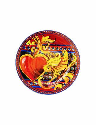 Baci Milano Kırmızı Gio Porselen 6'lı Tatlı Tabağı PLDES.GIO03