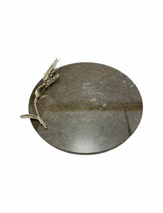Mi'Marb Design Wheel Collection Mermer Üstü Başak Figürlü Servis Tabağı MIM-SP-09