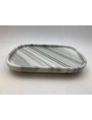 Mi'Marb Design Retro Collection Oval Mermer Sunum Tabağı MIM-MM-08