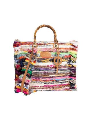 Otrera Rug Bag Wood Handle Çanta FRBWH-159