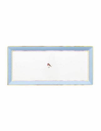 Pip Studio Love Bird Mavi Haki Servis Tabağı 33,3x15,5 cm 51018117