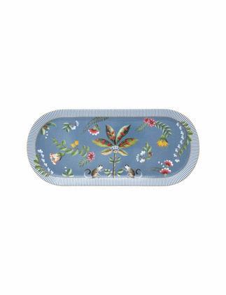 Pip Studio La Majorelle Mavi Oval Kek Servis Tabağı 51018102