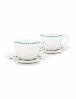 Pip Studio Jolie İkili Beyaz Çay Fincanı Seti 280 ml 51004119