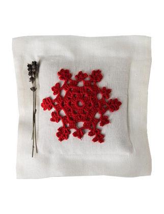 Homemade Aromaterapi Lavanta Yastığı Kırmızı Nakışlı 1520106460007