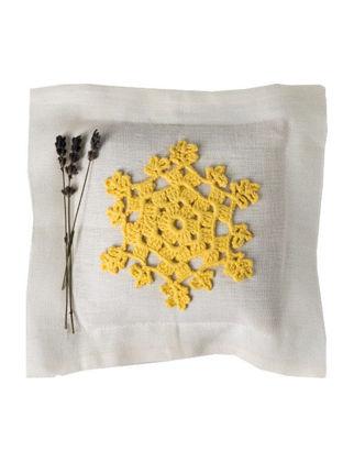 Homemade Aromaterapi Lavanta Yastığı Sarı Nakışlı 1520106490004
