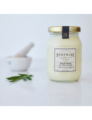 Homemade Aromaterapi Limon & Portakal Soyalı Mum Orta 190 ml 1530705900002