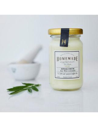 Homemade Aromaterapi Limonotu Soyalı Mum Küçük 110 ml 1530706400006
