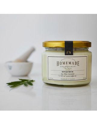 Homemade Aromaterapi Patchoulı & Lavanta Soyalı Mum Büyük 330 ml 1530702300003