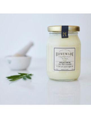 Homemade Aromaterapi Patchoulı & Lavanta Soyalı Mum Orta 190 ml 1530705800005
