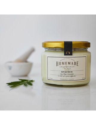 Homemade Aromaterapi Tarçın&Portakal&Karanfil Soyalı Mum Büyük 330 ml 1530702700001