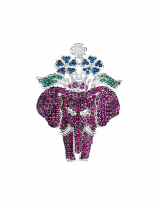 Canan Yolaç Stamboul Star Of The Depth Ruby Crystal Mistik Broş CYSOTD4021