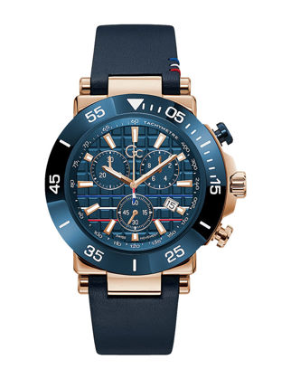 Guess Collection One Limited Edition Indiglo 44M Leather Strap Watch Y70006G7MF