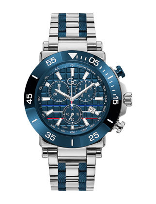 Guess Collection One Limited Edition Indiglo 44M Stainless Steel Band Watch Y70005G2MF