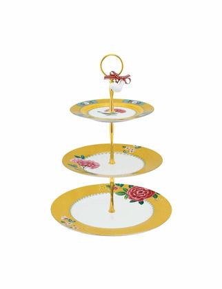 Pip Studio Blushing Birds 3'lü Sarı Kek Standı 51018096