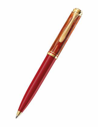 Pelikan Souveran K600 Tortoiseshell Red Tükenmez Kalem 815826