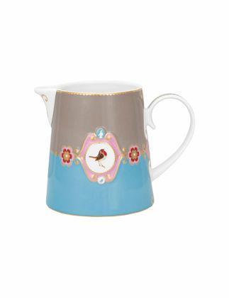 Pip Studio Mavi/Haki Madalyon Desenli Sütlük 51007006