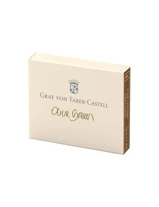 Graf Von Faber-Castell Dolma Kalem Kartuşu 6'lı Zeytin Yeşili 141115